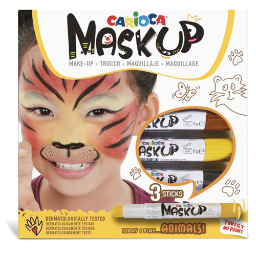 Caja de 3 barras de maquillaje Animales