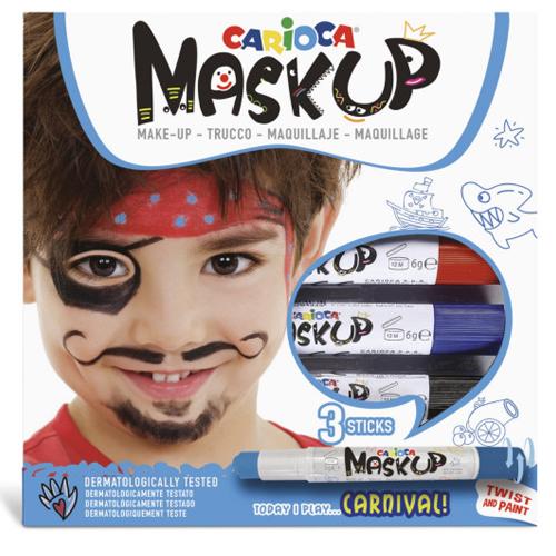 Caja de 3 barras de maquillaje Carnaval