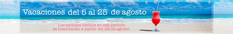Estamos de vacaciones del 5 al 25 de Agosto