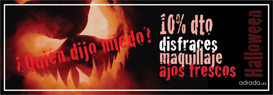 ADRADA Oferta del mes · 10% dto. en maquillaje y disfraces