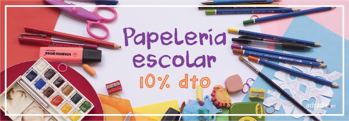 ADRADA Oferta del mes · 10% dto. en papelería